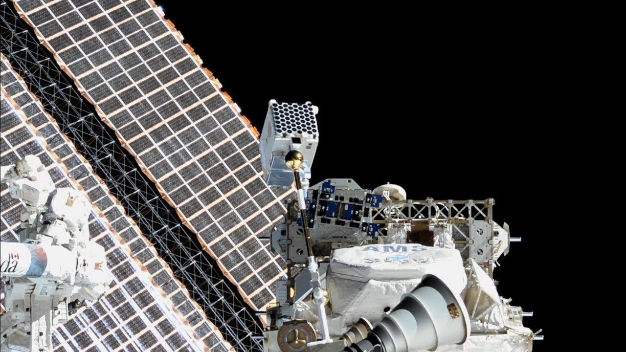 Инструмент NICER на Иеждународной космической станции.